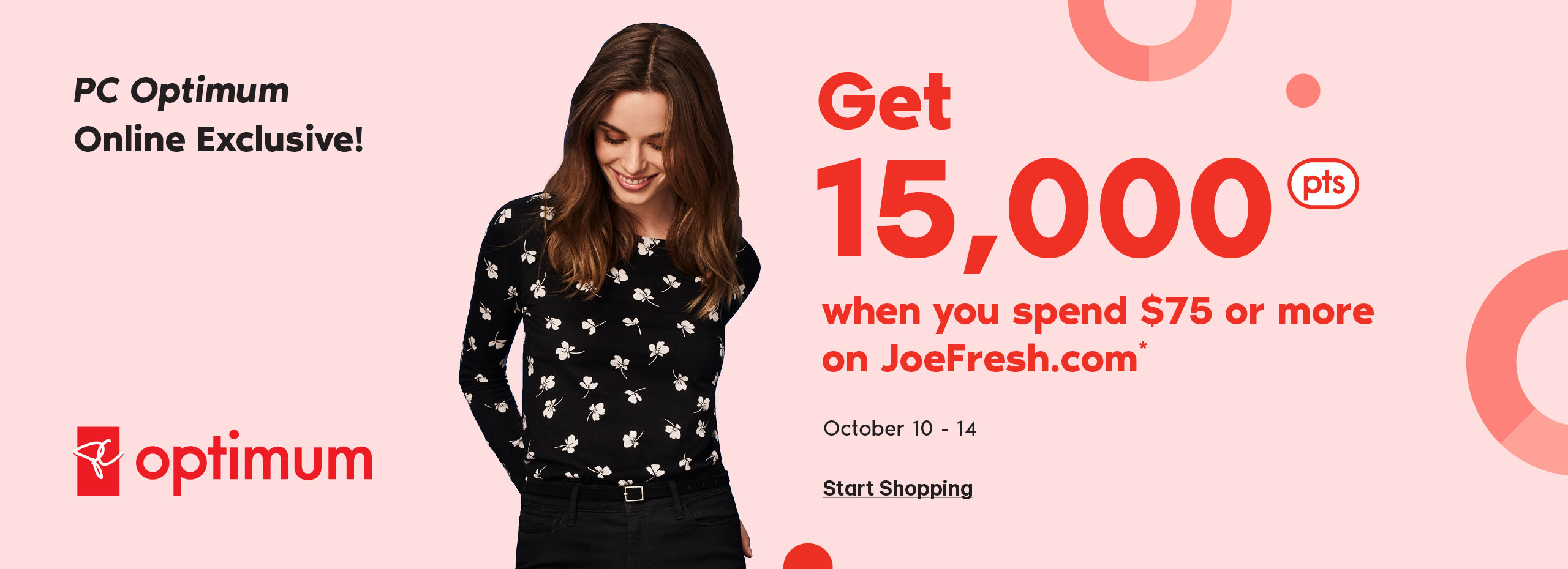 Get 15000 PC Points when you spend 75 dollars or more